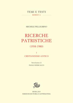 copertina di Ricerche patristiche (1938-1980). I.