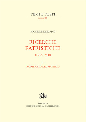 copertina di Ricerche patristiche (1938-1980). III.