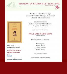 """""""Casadeipensieri2014"""". Presentazione del volume Vita e arte di Gino Cervi"""