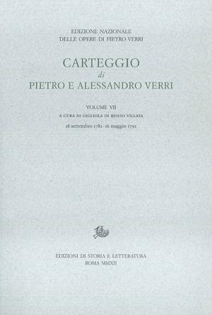 copertina di Carteggio di Pietro e Alessandro Verri