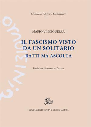 copertina di Il fascismo visto da un solitario