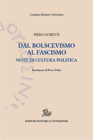copertina di Dal bolscevismo al fascismo
