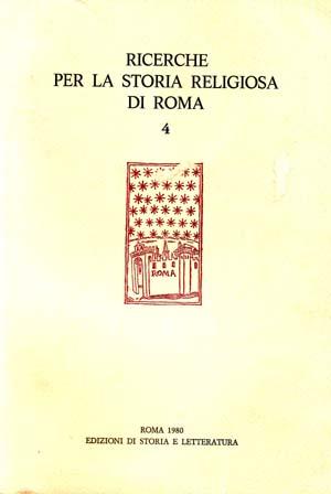 copertina di Ricerche per la storia religiosa di Roma 4