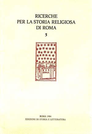copertina di Ricerche per la Storia Religiosa di Roma 5