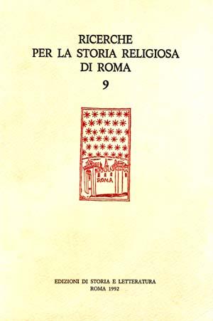 copertina di Ricerche per la Storia Religiosa di Roma 9