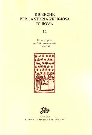 copertina di Ricerche per la Storia Religiosa di Roma 11