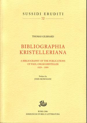 copertina di Bibliografia Kristelleriana.