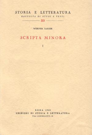 copertina di Scripta minora