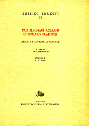copertina di Due seminari romani