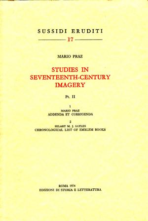 copertina di Studies in Seventeenth-Century Imagery Vol. II