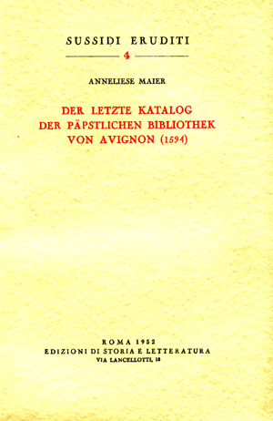 copertina di Der letzte Katalog der päpstlichen Bibliothek von Avignon (1594)