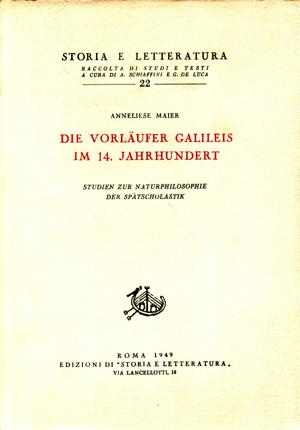 copertina di Studien zur Naturphilosophie der Spätscholastik