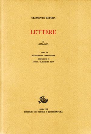 copertina di Lettere
