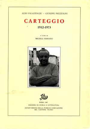 copertina di Carteggio: 1912-1973