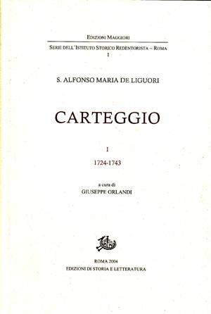 copertina di Carteggio, I