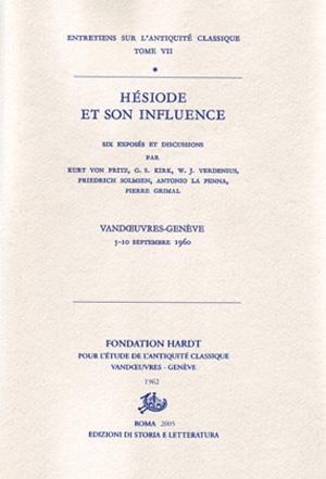 copertina di Hésiode et son influence