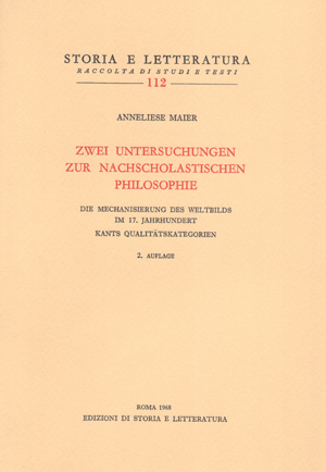 copertina di Zwei Untersuchungen zur nachscholastischen Philosophie