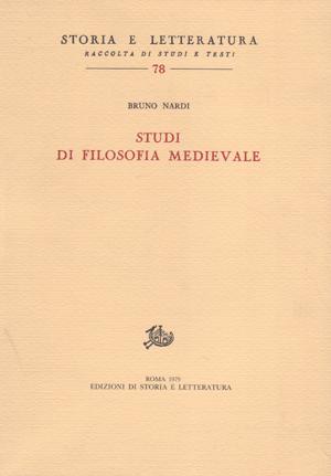 copertina di Studi di filosofia medievale