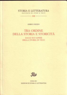 copertina di Tra ordine della storia e storicità