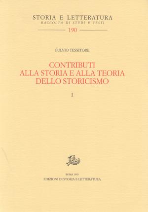 coperitna di Contributi alla storia e alla teoria dello storicismo. I, II