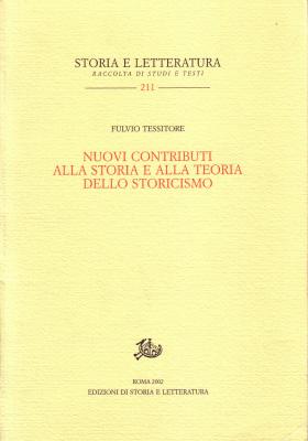 copertina di Nuovi contributi alla storia e alla teoria dello storicismo