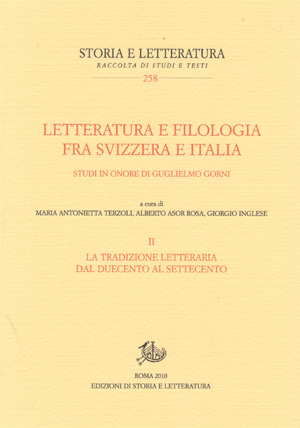 copertina di Letteratura e filologia fra Svizzera e Italia. II