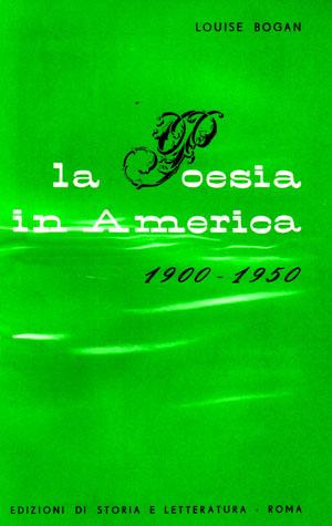 copertina di La poesia in America