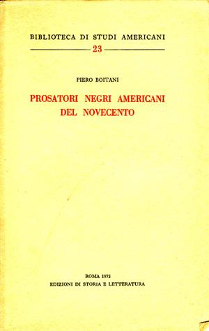 copertina di Prosatori negri americani nel Novecento