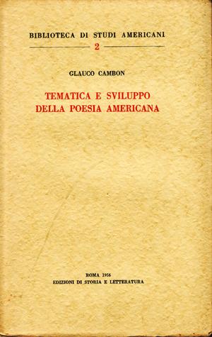 copertina di Tematica e sviluppo della poesia americana