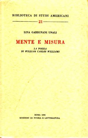 copertina di Mente e misura
