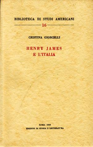 copertina di Henry James e l'Italia