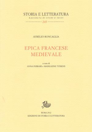 copertina di Epica francese medievale