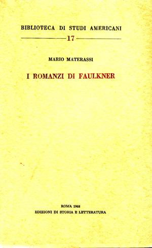 copertina di I romanzi di Faulkner
