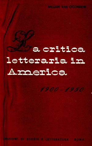 copertina di La critica letteraria in America