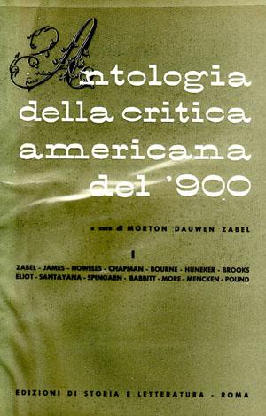copertina di Antologia della critica americana del Novecento