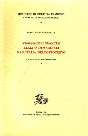 copertina di Viaggiatori francesi reali o immaginari nell'Italia dell'Ottocento