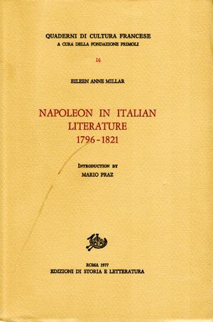 copertina di Napoleon in Italian Literature (1796-1821)