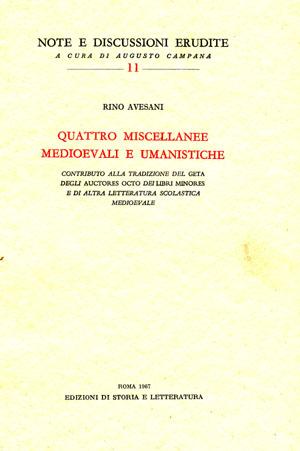 copertina di Quattro miscellanee medioevali e umanistiche