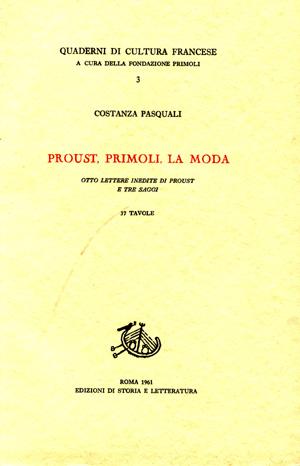copertina di Proust, Primoli, la moda