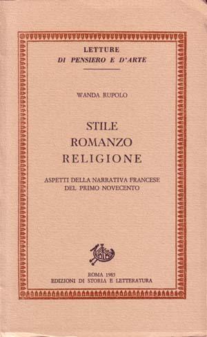 copertina di Stile, romanzo, religione
