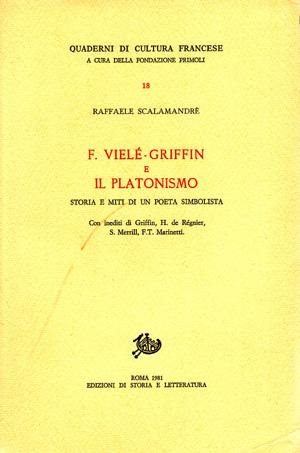 copertina di F. Vielé-Griffin e il Platonismo