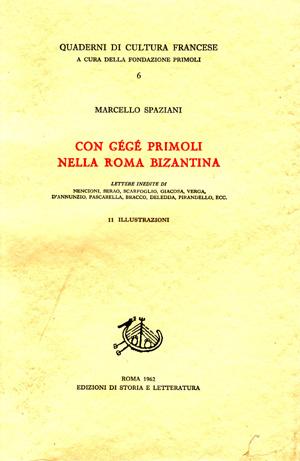 copertina di Con Gégé Primoli nella Roma bizantina