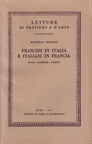 copertina di Francesi in Italia e italiani in Francia