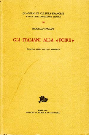 copertina di Gli Italiani alla «Foire»