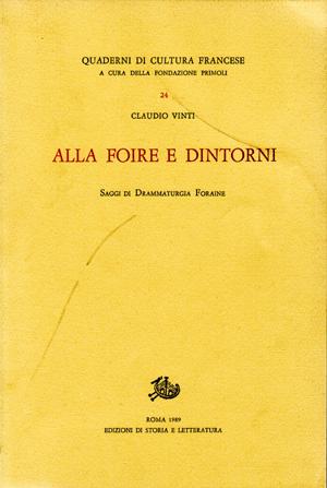 copertina di Alla «Foire» e dintorni