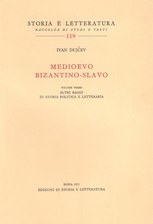 copertina di Medioevo bizantino-slavo. III
