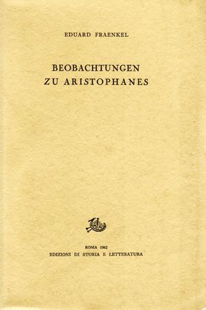 copertina di Beobachtungen zu Aristophanes