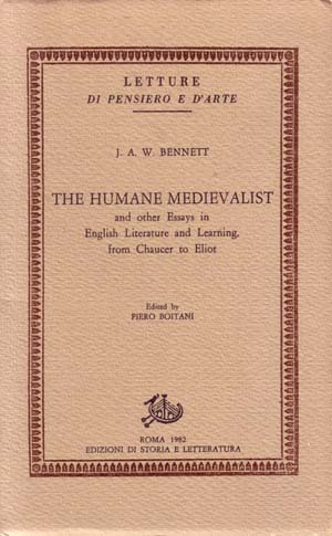 copertina di The Humane Medievalist and other Essays in English Literature and Learning from Chaucer to Eliot