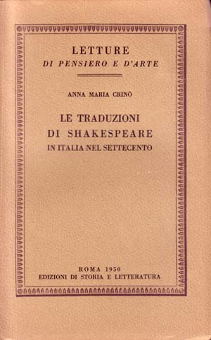 copertina di Le traduzioni di Shakespeare in Italia nel Settecento