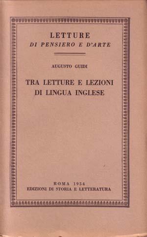 copertina di Tra letture e lezioni di lingua inglese